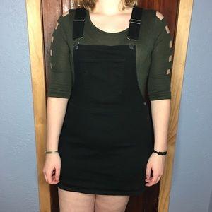 Forever 21 overalls black mini dress size large